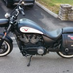 Victory Highball Bike Vision detachable saddlebag bracket