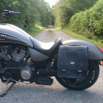 Victory Gunner Bike Vision detachable saddlebag bracket